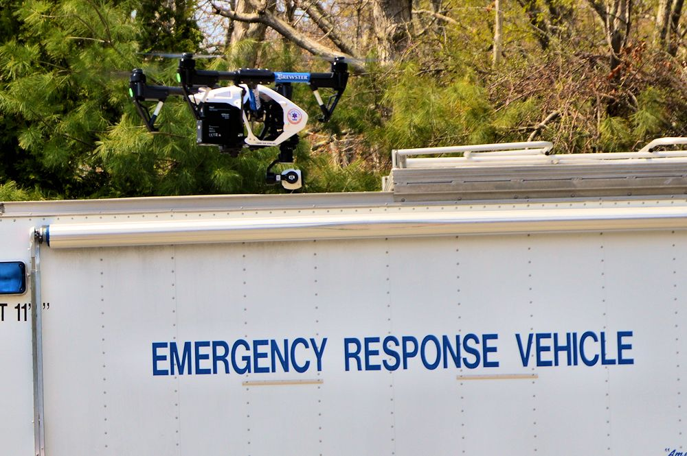Brewster Ambulance Drone Leaves the Ground