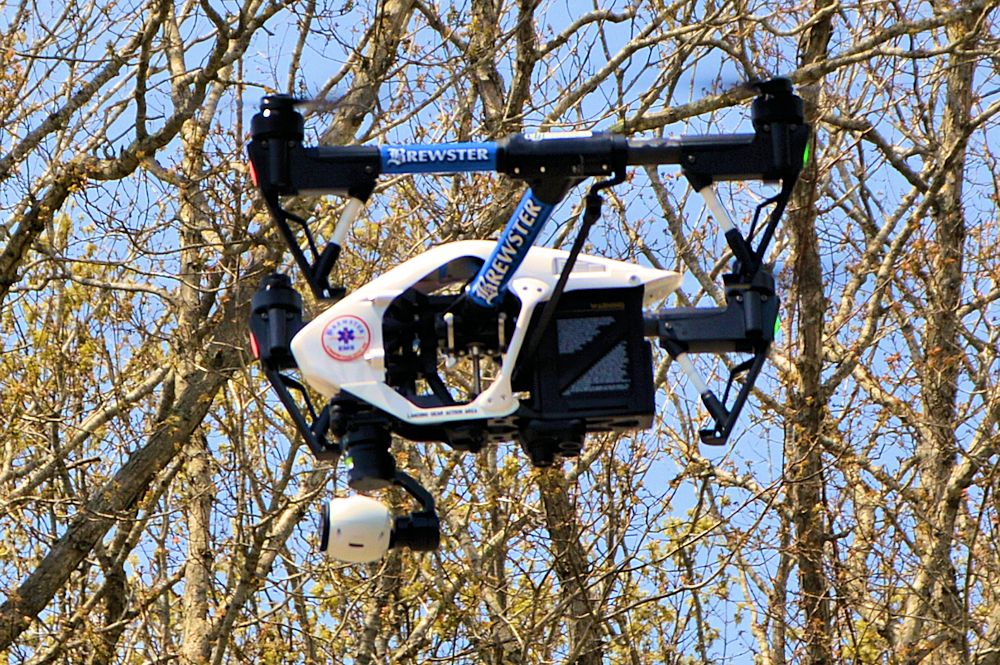 Brewster Ambulance Drone Climbs
