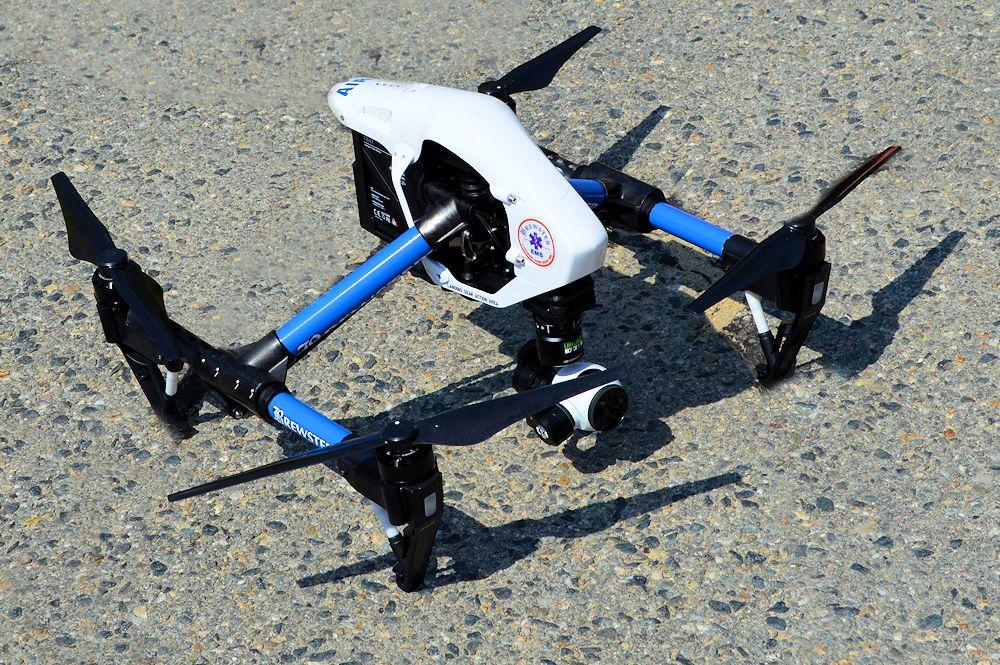 Brewster Ambulance Drone Landed