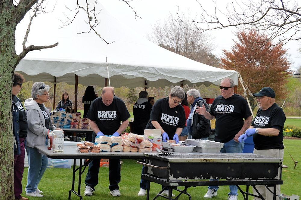 Plymouth Police Citizen's Police Academy Volunteers Prepare to Feed The Masses.