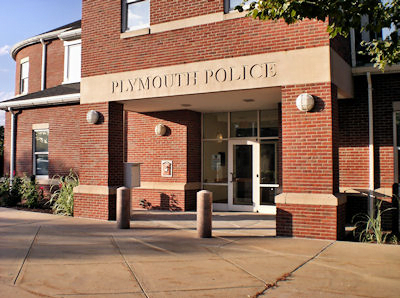 Plymouth Police Department Entrance