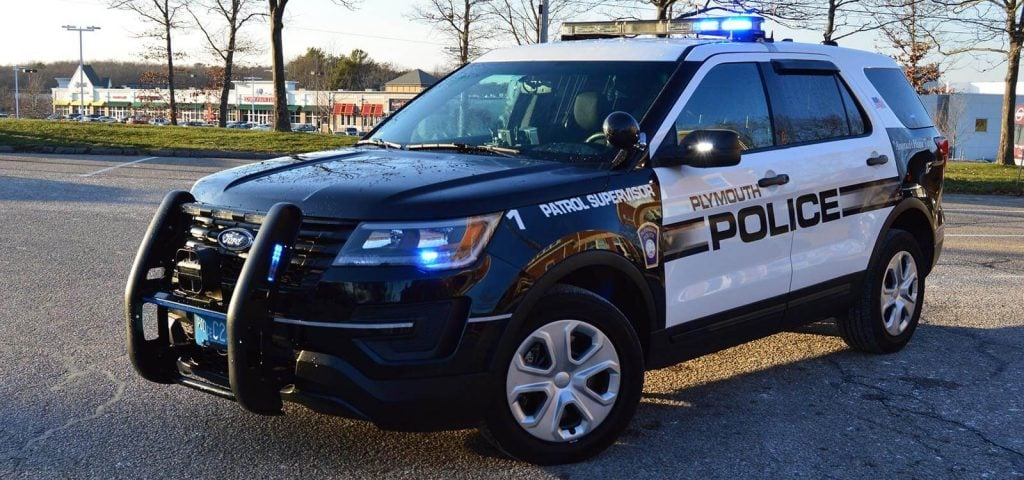 Marked Plymouth Police Cruiser