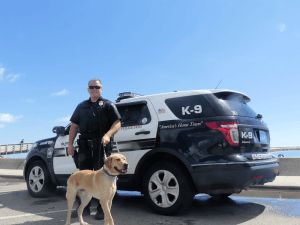 Officer Welch with K-9 Max