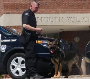 Officer Keith Larsen and K-9 Nico